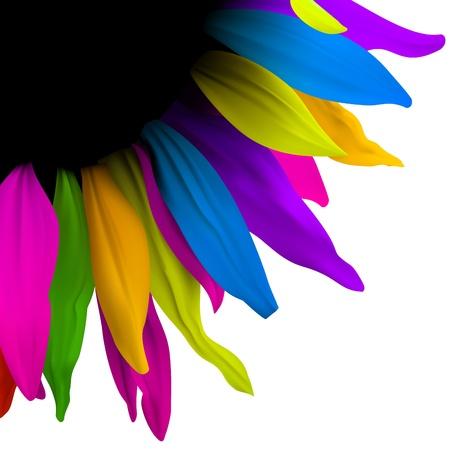 Creative fleurs numériques. Mise en page Brochure
