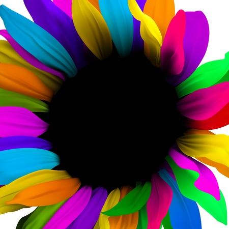 digital print: Creative digital flower. Brochure layout