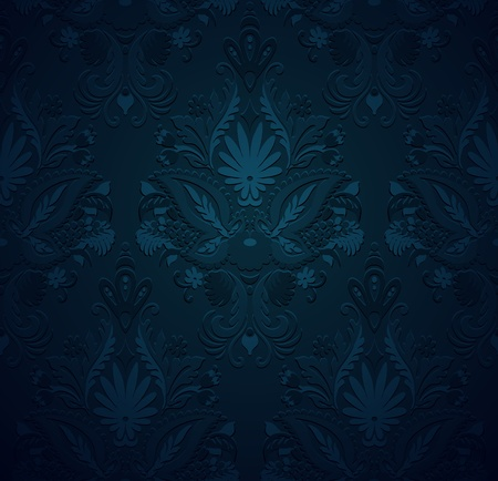 swatch: Seamless pattern vintage background, grunge ornament floral texture
