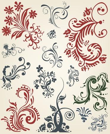 Ornament floral vector elements Stock Vector - 11485927