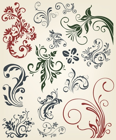 flourishes: Ornament floral vector elements  Illustration