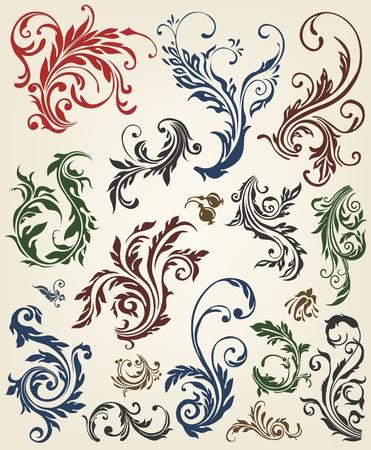 corner ornament: Ornament floral vector elements  Illustration