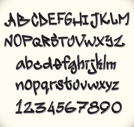 abecedario graffiti: Graffiti alfabeto fuente, las letras abc