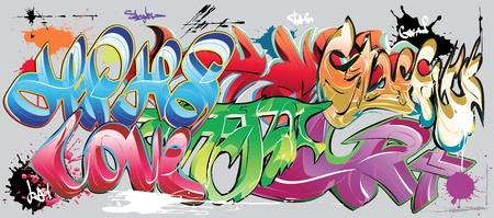 graffiti muur Vector Illustratie