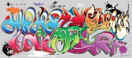 Graffiti-Wand Vektorgrafik