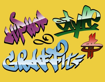 design graffiti words  Vector