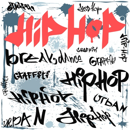 hip hop dance: hip-hop graffiti tags