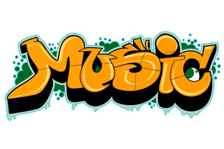 Graffiti urban music art Vector