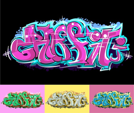 hip hop style: Graffiti urban art