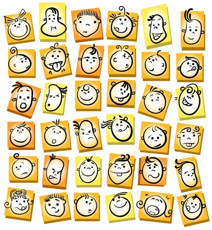 People face cartoon vector icon Vector