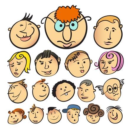 People face cartoon vector icon Vector