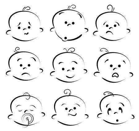 Kid Gesicht Cartoon-Ikonen