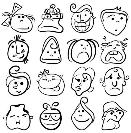 People face cartoon vector icon Stock Vector - 11486003