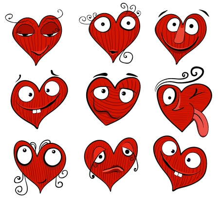 Cartoon hearts Stock Vector - 11656577