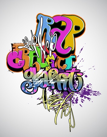 Graffiti modern art Vector