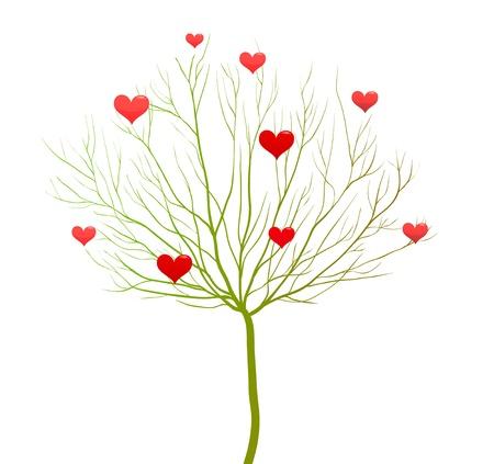 Love tree, Valentine day vector design Vector