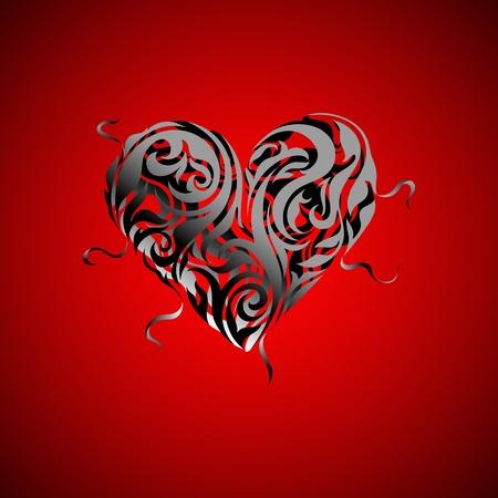 Heart design. Valentine card Vector