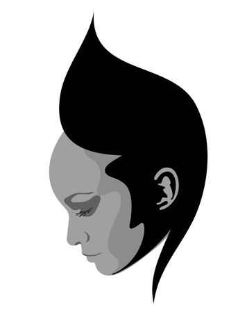 Abstract woman face symbol Vector