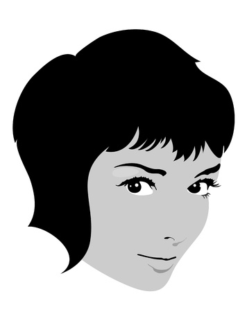 Pretty girl face vector Vector