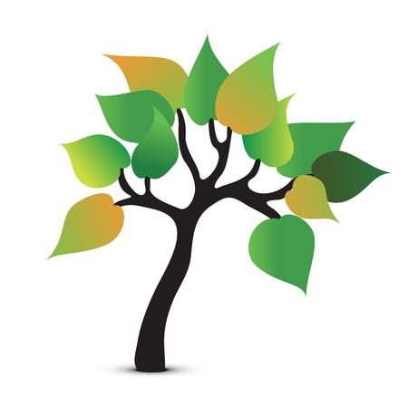 vida natural: Árbol abstracto símbolo. Vector icono