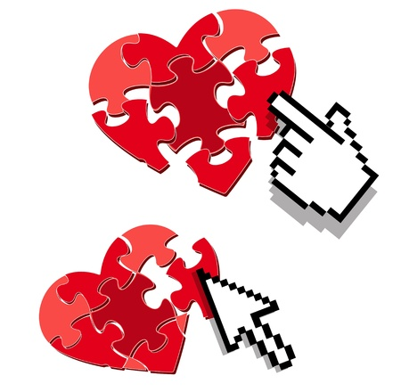 love target: internet love or dating search symbol Illustration