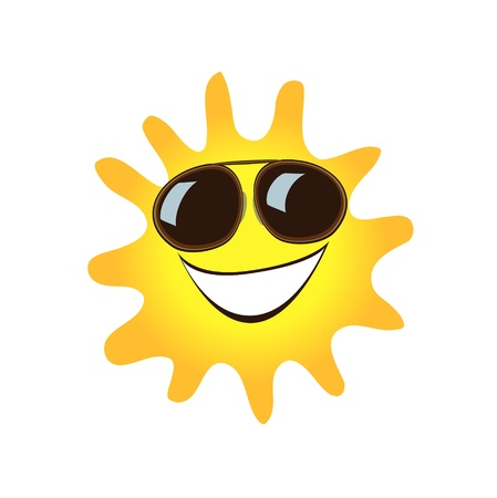 sizzle: Happy smiling sun cute symbol