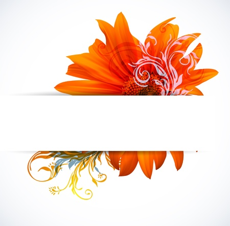 Creative Colorful Flower background Vector