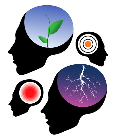 Headache vector signs. Health icons Vector