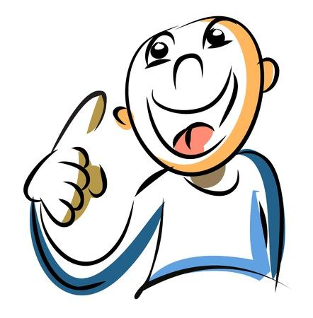Cartoon person has an idea Stock Vector - 11950656