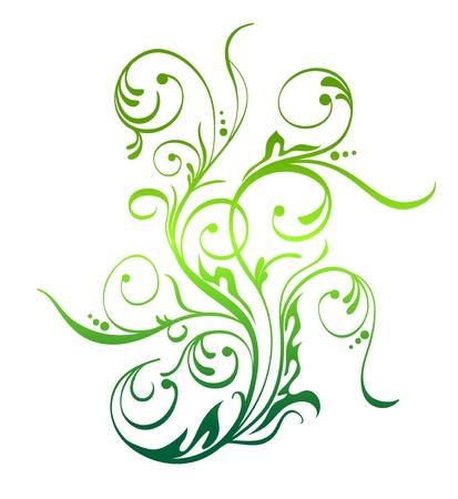 filigree swirl: Nature Floral Element Vector Decoration