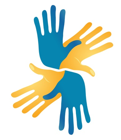 sign language: Abstract Hands Vector Symbol