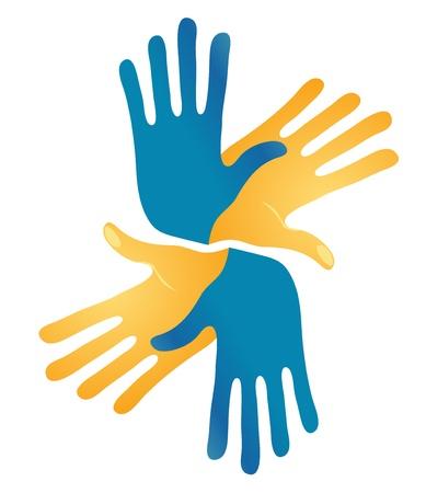 idiomas: Resumen manos que se entrelazan Vector Vectores
