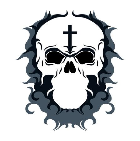 Abstract Skull Vector