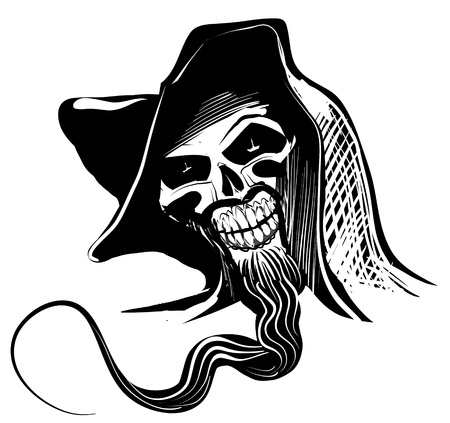 Artistic Skull illustration Vector