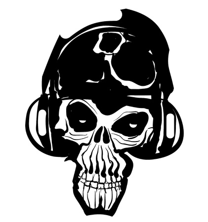 Music Skull Icon Vector