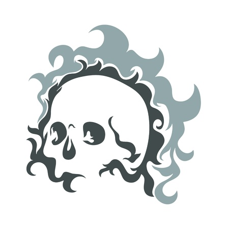 black rapper: Skull Vector Design