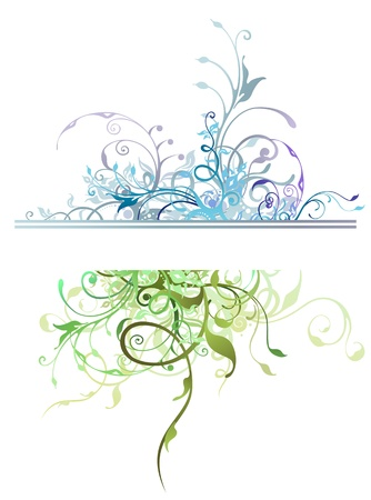Nature Floral Decoration Elements Vector