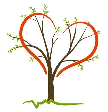 stencil: Love Nature Vector Symbol