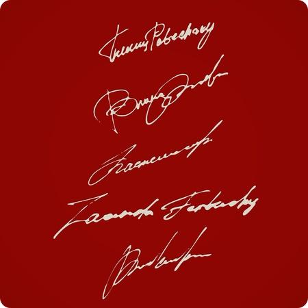Set Of Artistic Signatures Stock Vector - 11950645