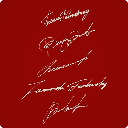 somebody: Set Of Artistic Signatures