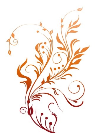 flores: Decorative Floral Element Illustration