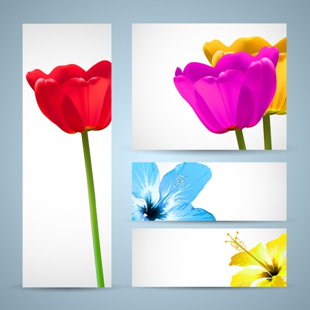 Flower Brochure Nature Template Vector