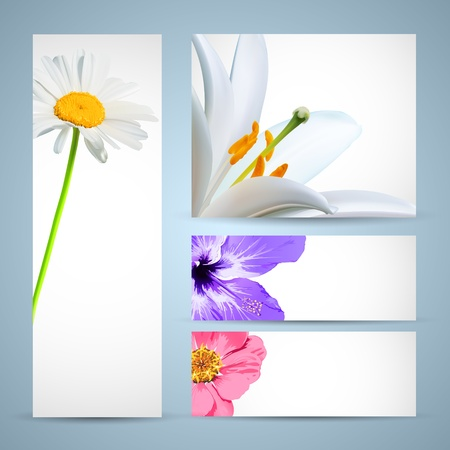 Flower Brochure Template. Background Design Vector