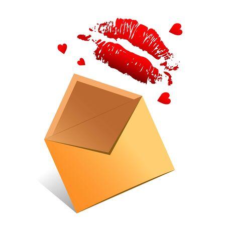 love letter valentine vector concept Vector