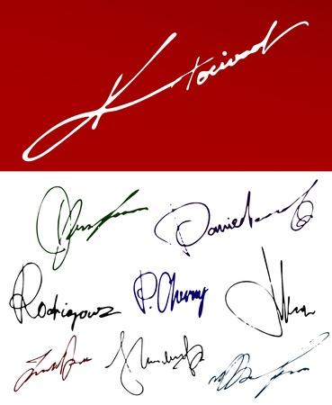 Signatures Vector Ink Set Stock Vector - 11995750