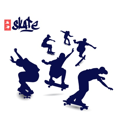 boarded: Skate Silhouettes Illustration