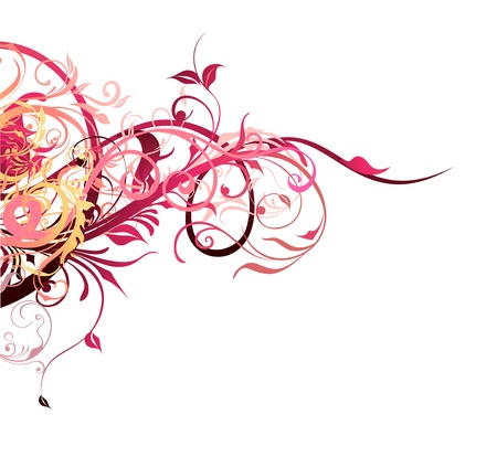 Abstract Floral Element Decor Vector
