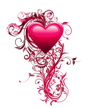 Valentine day love background Vector