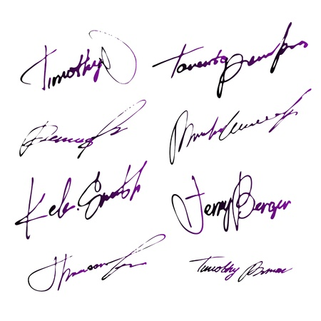 Personal Ink Signatures Collection Stock Vector - 12056147