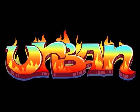 grafiti: Graffiti Urban Art Vector Illustration